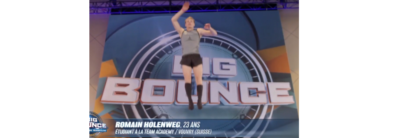 Romain Holenweg, étudiant à la Team Academy finaliste de l'émission big bounce sur TF1